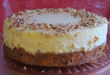 Carrot.pecan cheese cake 4
